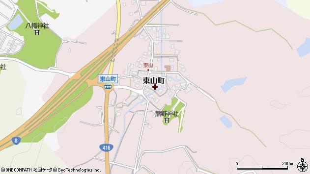 石川県小松市東山町周辺の地図