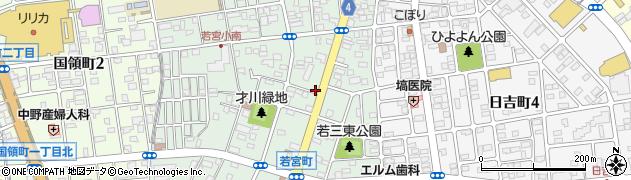 群馬県前橋市若宮町周辺の地図
