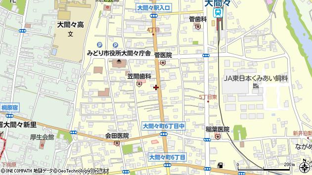 群馬県みどり市大間々町大間々周辺の地図