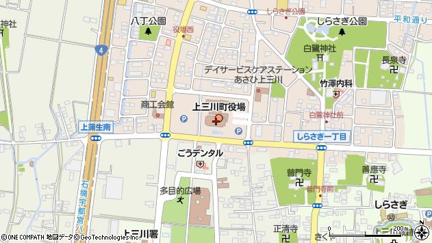 栃木県河内郡上三川町周辺の地図