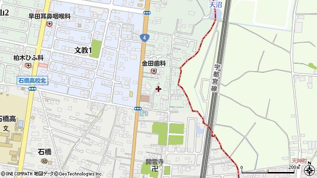 栃木県下野市下古山周辺の地図