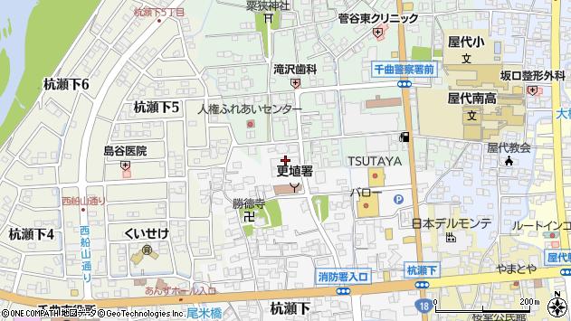 長野県千曲市周辺の地図