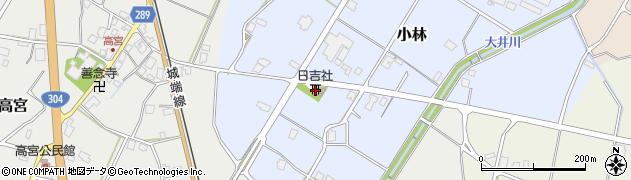 富山県南砺市小林周辺の地図