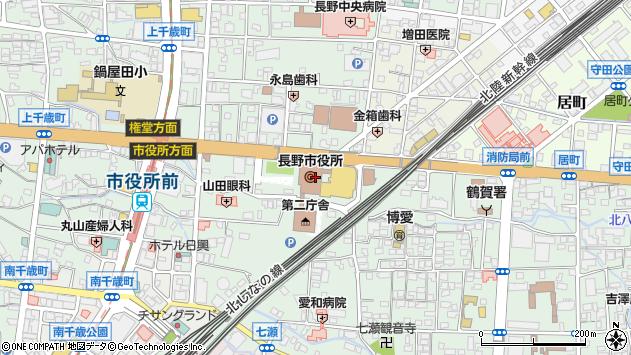 長野県長野市周辺の地図