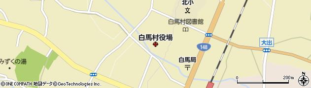 長野県北安曇郡白馬村周辺の地図