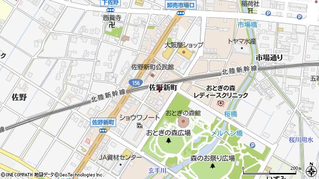富山県高岡市佐野佐野新町 住所一覧から地図を検索