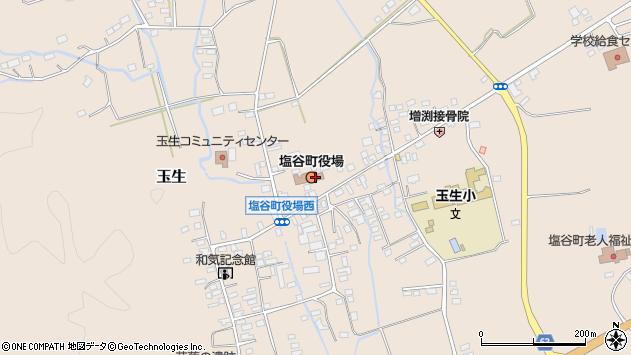 栃木県塩谷郡塩谷町周辺の地図