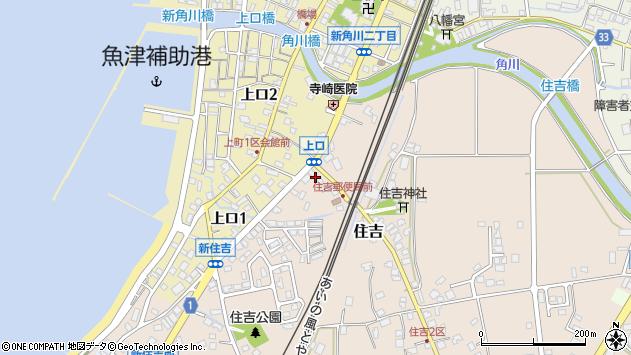 富山県魚津市新住吉町周辺の地図