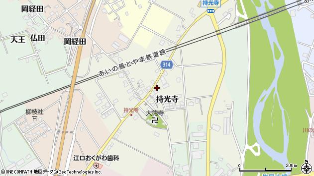 富山県魚津市持光寺周辺の地図