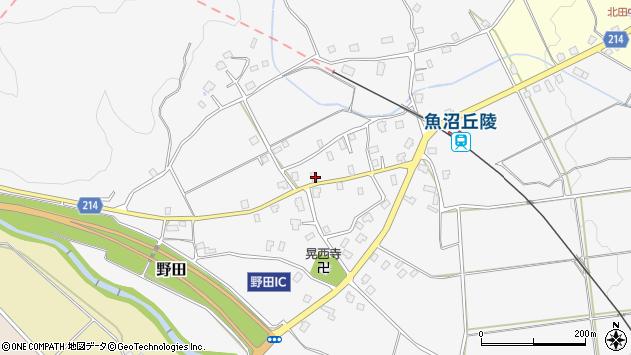 新潟県南魚沼市野田 地図(住所一覧から検索) :マピオン