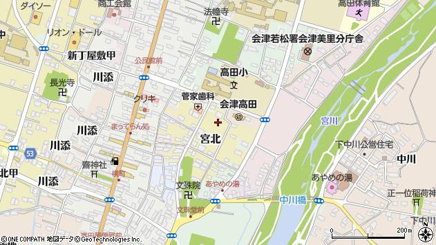 福島県大沼郡会津美里町周辺の地図