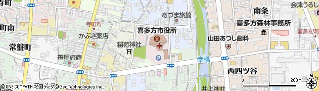 福島県喜多方市周辺の地図