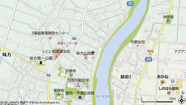 新潟県新潟市南区味方周辺の地図