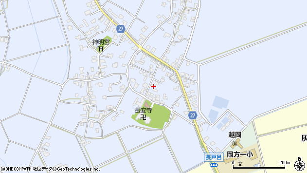 新潟県新潟市北区長戸呂周辺の地図