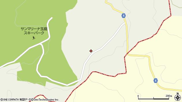 山形県東置賜郡川西町玉庭1周辺の地図