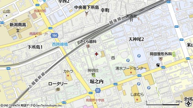 新潟県新潟市中央区東幸町周辺の地図