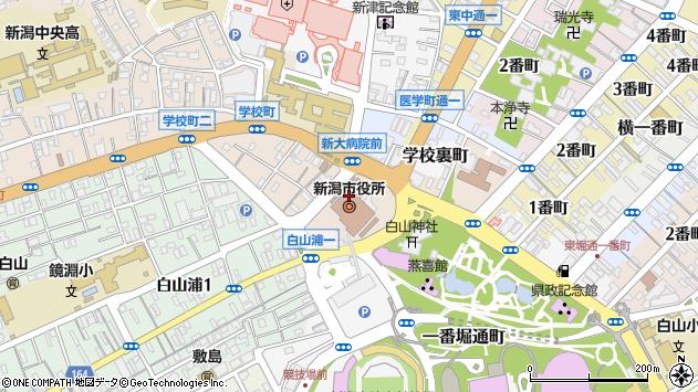 新潟県新潟市中央区 地図(住所一覧から検索) :マピオン