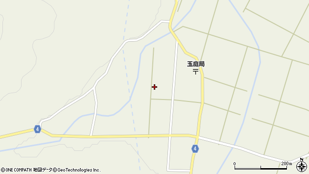 山形県東置賜郡川西町玉庭中程周辺の地図