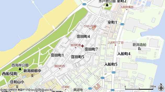 新潟県新潟市中央区窪田町 地図(住所一覧から検索) :マピオン