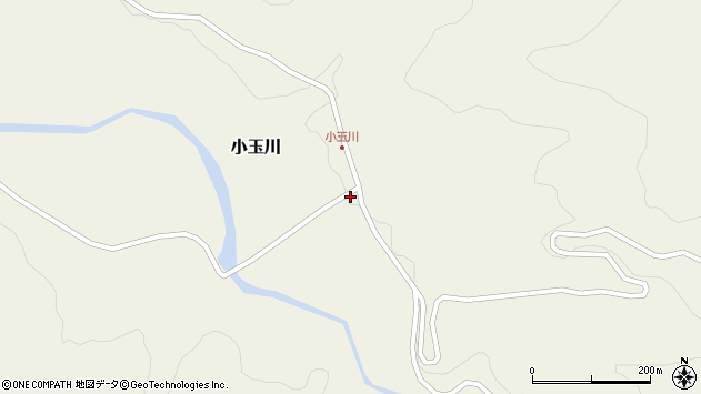 山形県西置賜郡小国町小玉川75周辺の地図