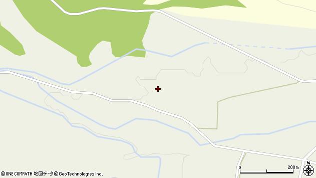 山形県東置賜郡川西町玉庭軽井沢周辺の地図