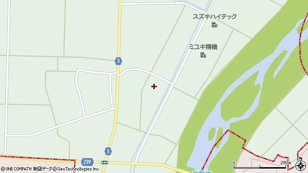 山形県東置賜郡川西町尾長島宿周辺の地図
