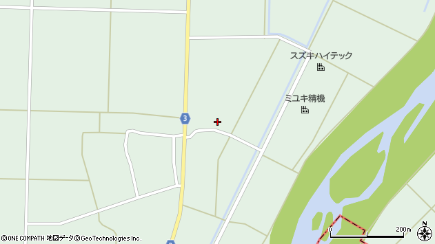 山形県東置賜郡川西町尾長島1194周辺の地図