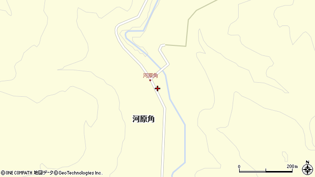 山形県西置賜郡小国町河原角周辺の地図