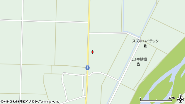 山形県東置賜郡川西町尾長島尾長島第二周辺の地図