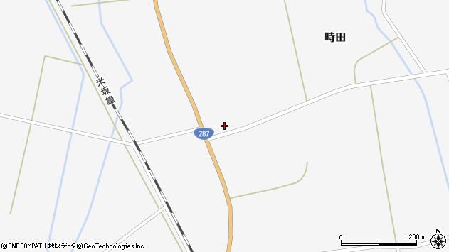 山形県東置賜郡川西町時田1374周辺の地図