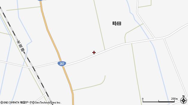 山形県東置賜郡川西町時田1264周辺の地図