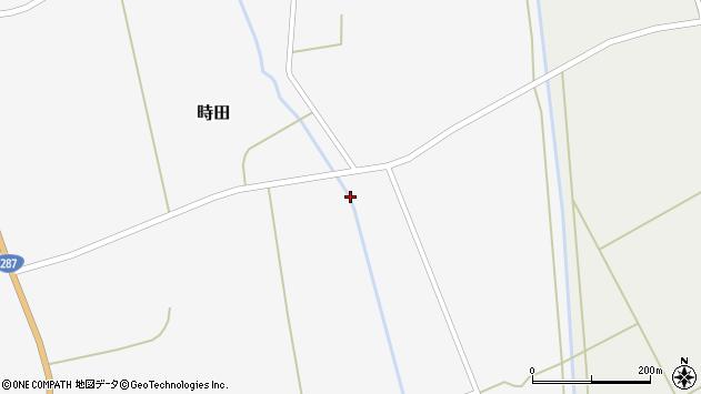 山形県東置賜郡川西町時田高田周辺の地図