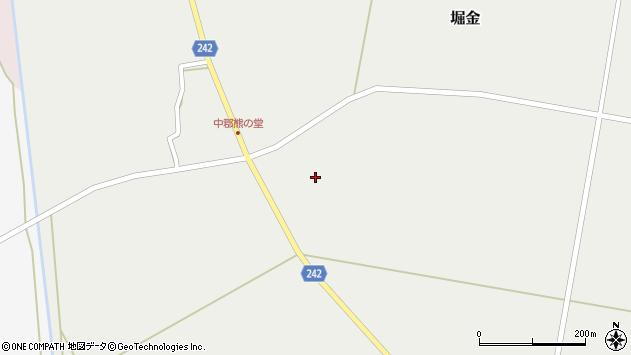 山形県東置賜郡川西町堀金989周辺の地図