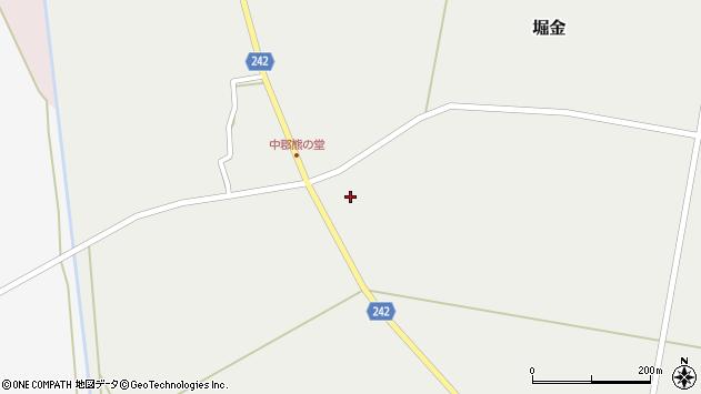 山形県東置賜郡川西町堀金1168周辺の地図