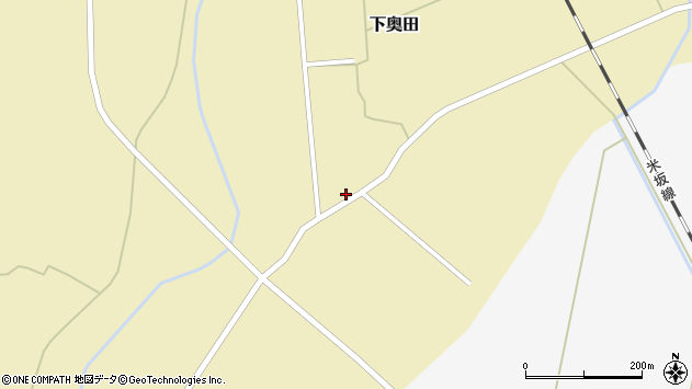 山形県東置賜郡川西町下奥田1329周辺の地図