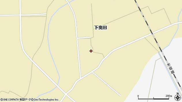 山形県東置賜郡川西町下奥田1337周辺の地図