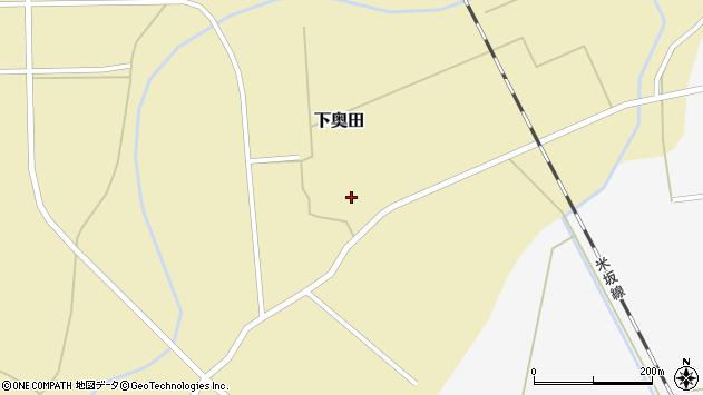 山形県東置賜郡川西町下奥田1395周辺の地図