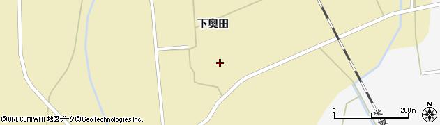 山形県東置賜郡川西町下奥田館野周辺の地図