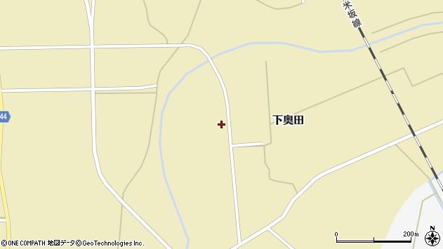 山形県東置賜郡川西町下奥田1345周辺の地図