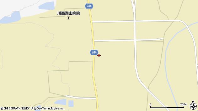 山形県東置賜郡川西町下奥田観音裏周辺の地図