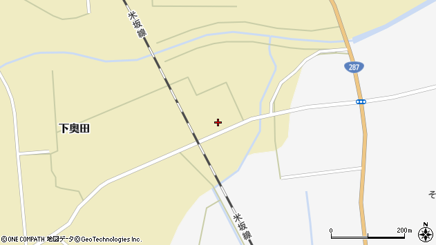 山形県東置賜郡川西町下奥田1439周辺の地図