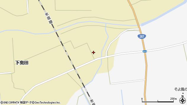 山形県東置賜郡川西町下奥田1440周辺の地図