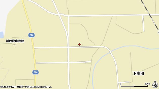 山形県東置賜郡川西町下奥田802周辺の地図
