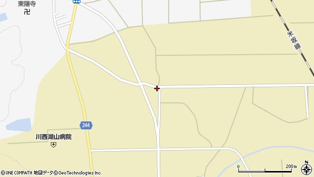 山形県東置賜郡川西町下奥田1009周辺の地図