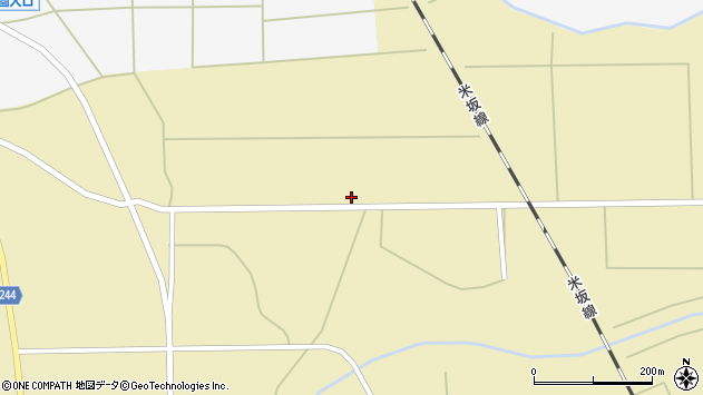 山形県東置賜郡川西町下奥田744周辺の地図