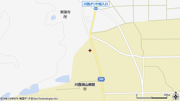 山形県東置賜郡川西町下奥田943周辺の地図
