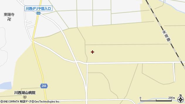 山形県東置賜郡川西町下奥田825周辺の地図