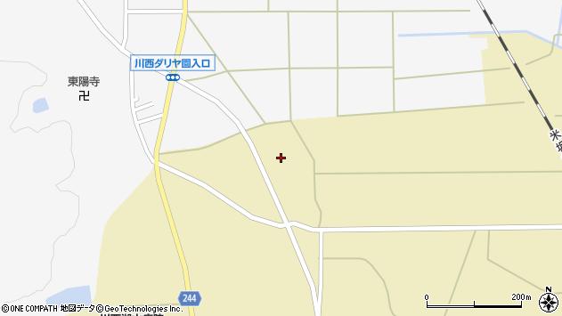 山形県東置賜郡川西町下奥田881周辺の地図