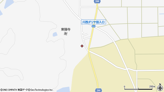 山形県東置賜郡川西町上小松2716周辺の地図
