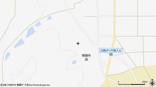 山形県東置賜郡川西町上小松東陽寺前周辺の地図
